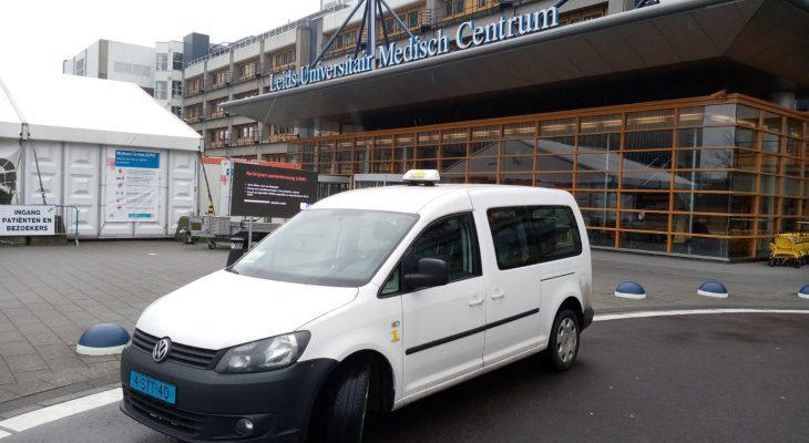 Onze Rolstoel Caddy bij het LUMC Leiden